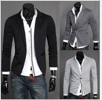 Wholesale Mens Stunning Silm - 2015 British Fashion suit silm coats Mens casual Stunning slim fit Jacket Blazer Short Coat one Button suit