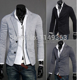Wholesale Cowl Neck Men - 2015 New Arrival Conventional Free Shipping New Mens Design Two Hoodie Coat Suits Knit Jackets Blazer Suit 3 Colors M l xl xxl