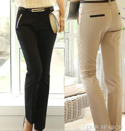 Wholesale Long Boots For Sale - Pantalones Mujer Women Pants Hot Sales Women's Career Pants for Business Office Ladies Full Long Trousers Female Clothing J1990