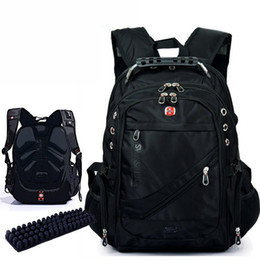 waterproof hunting bag Promo Codes - Wholesale-New Fashion Brand Design Men's Travel Bag 15.6 inches Man Backpack Polyester Bags Waterproof Shoulder Bags Computer Packsack