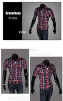 Wholesale Short Cage Male - shirt in cage short sleeve Shirts blanket Camisas Plaid Shirt Classical Male dress Shirt cotton poly Camisa Masculina XXL 5989