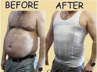 erkekler daha ince şekillendirici toptan satış-Erkek Zayıflama Vücut Şekillendirici Belly Buster Underear Vist Sıkıştırma s M L XL XXL