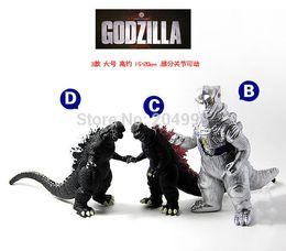 Wholesale Dinosaur Action - Wholesale-New 2015 Classical boys godzilla toys pvc action figures Ultraman Dinosaur models doll 3 style Free shipping