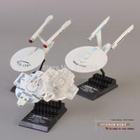 Wholesale Black Star Action Figures - Wholesale-Free Shipping Star Trek Mini Spaceship PVC Action Figure Model Toy set of 3 MVFG098