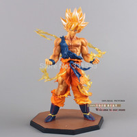 Wholesale Dragon Ball Action - Wholesale-Japanese Anime Dragon Ball Z Super Saiyan Goku PVC Action Figure Toy Cartoon Model Doll 17CM Free Shipping