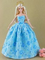 Wholesale Accessories For Shoes - 18 items=6 dress+6 shoes+6 accessories Party Doll's Dress Clothes Gown For Barbie doll 20 stye for you choose