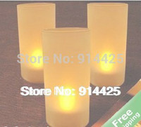 New Flicking Voice Control LED Couleur Jaune Changer Seulement Flameless Candle Lights (10 Pieces / Lot) SL0149