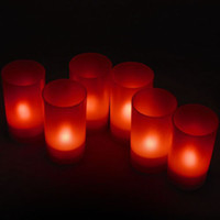 Automatische Sprachsteuerung LED Candle Light Geburtstag Electronic Light, Red