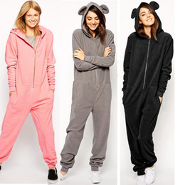 f4ea36f7f09 cute casual jumpsuits Promo Codes - Fashion women cute jumpsuit rompers  2015 casual women hooded loose