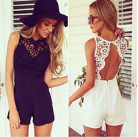 New 2015 Summer Lace Jumpsuits Women Sexy Shorts Bodycon Rom...