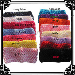 Wholesale Waffle Knit Headbands - Free shipping!50pcs lot 15 colors 3'' crochet headband knit waffle headband hair wear can mixed order