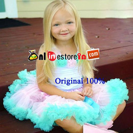 Wholesale Summer Toddler Girls Pettiskirts - Wholesale-FREE SHIPPING light pink and aqua blue summer toddler girl Pettiskirts Dresses set,tutu skirts and cotton rosette top