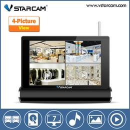 Wholesale Network Video Server Ip Camera - NEW NVR wireless network video server wifi ip camera with nvr kit 4 wireless ip camera output wifi nvr kit VStarcam NVS-K200