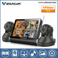 Barato Câmera Ip De Servidor De Vídeo-VStarcam 7 polegadas touch screen capacitiva sem fio Server Network Video com câmera IP WIFI com Wireless Kit NVR sistema CCTV 4CH