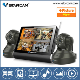Wholesale Network Video Server Ip Camera - VStarcam 7 inch Capacitive Touch Screen Wireless Network Video Server with wifi ip camera with Wireless NVR Kit 4ch cctv system
