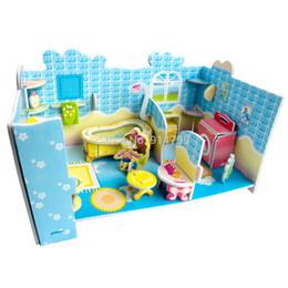 Wholesale Dream Puzzles - 690C Fashion dream villa design Puzzles Kids Educational Toys DIY 3D Jigsaw Puzzle For Children Adults Free Shipping