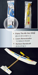 Wholesale Rubber Powered Gliders - DIY Wood Assembly Gliders For Kid Soaring Bungee Rubber Band Elastic Powered Glider.Aircraft Models Kits
