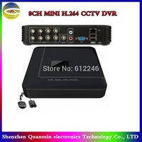 8 Kanal Mini DVR 2CH D1 + 6CH CIF Standalone CCTV DVR Remote durch 3G Handy 8CH Security System DVR Recorder anzeigen