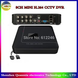 Wholesale Dvr Recorder Channel 3g - 8 Channel Mini DVR 2CH D1 + 6CH CIF Standalone CCTV DVR,Remote view by 3G Mobile phone,8CH Security System DVR Recorder