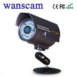 Wholesale Ir Motion Camera Micro Sd - Wholesale-Wanscam JW0019 Wireless P2P IR 20M Outdoor IP Camera Waterproof Bullet Webcams support TF Micro SD Card Motion Detection WAN104