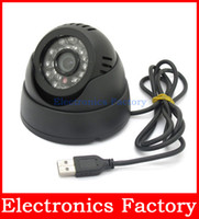 Wholesale Dome Card Camera - Wholesale-Security USB Tf Card 4GB-32GB Dome IR CCTV Camera Video Night Vision Auto Car Driving record Recorder Recording DVR Waterproof