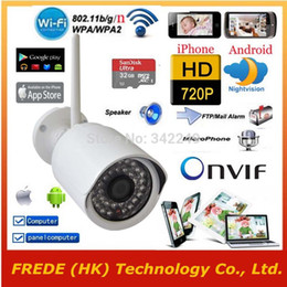 Wholesale 3g Home Security Camera Wireless - Wholesale-WiFi IP camera Wireless Security network,1280*720P HD,P2P,Outdoor Waterproof Gargen Home,SD Card,3G 4G 5G iphone Andorid,PC IPAD
