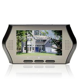 "Wholesale Peephole Viewer Dvr - Wholesale-4.3"" Screen Wide Lens Peephole Viewer Camera DVR IR Motion Detection Home Security Door Eye, Digital LCD Display Peephole"