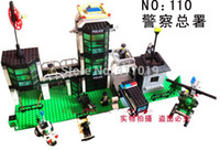 Wholesale Headquarters Police - Free Shipping Enlighten 110 400+pcs large Building Block sets eductional Bricks blocks Children toys Gifts police headquarters