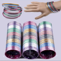 Wholesale Wholesale Dance Bracelets - 50pcs Wholesale Mix Lots Set Indian Dance Cuff Bangle Aluminum Bracelets Bulks
