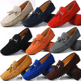 2019 guida auto scarpa US 6-10 Really Leather in pelle Mens Comfort nappa Loafer slip on mens mocassino alla guida di scarpe da auto guida auto scarpa economici
