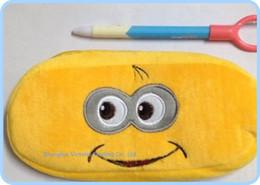 Wholesale Despicable Pouch - Despicable ME 2 Plush Pen Pencil BAG Pouch Case Pack Pendant Cosmetics & Gift Stationery Pouch Bag Case Coin Purse Wallet BAG