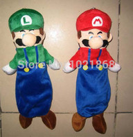 Wholesale Cute Luigi Plush - Christmas gift FREE SHIPPING Super Mario Bros plush doll mario Luigi pencil bag cute Zipper pencil pouch School supply pen case