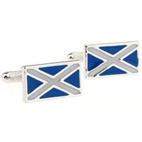 Wholesale 925 Tie Clip - Scottish Flag Cufflinks