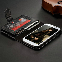 Wholesale Leather Book Cover Galaxy S3 - With 7 Card Holder PU Leather Case For samsung galaxy S3 i9300 SIII Book Style Phone Back Cover Multifunction Black