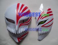 Wholesale Bleach Cosplay Hollow Masks - Wholesale-2 Pcs Bleach Ichigo Kurosaki Bankai Hollow Mask Full and Half Cosplay Props Free Shipping