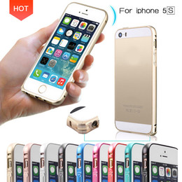 Wholesale Metal Bumper Iphone5 - Luxury Ultra thin Metal Aluminum Frame Bumper Case For Apple iphone 5 5S iphone5 Slim Shockproof Cell Phone Mobile Protect Cases