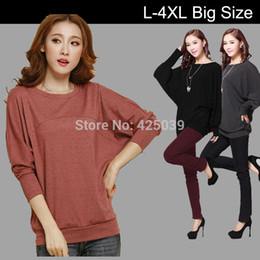 Wholesale Bat Hoody - New 2015 Women's Hoodies Pullover Lady Sweatshirts Outwear Ladies Fashion Bat sleeve women hoody Patchwork Tops L - XXXXL 465