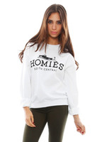 Wholesale Homies Tracksuit - Fashion Women Sweatshirt HOMIES Printed Sport Suit Three Color Hoody New 2015 Autumn Women Thick Tracksuits