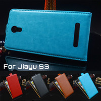 Wholesale Jiayu S3 Cover - 4 Colors PU Leather Case Jiayu S3   Flip Jiayu S3 Case Cover for Jiayu S3 Case Free Shipping Wholesale