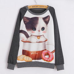 Wholesale Rabbit Hoodie For Women - 2015 New Brand Hoody women Casual hoodies Darling rabbit print fleece inside long sleeve o neck letters sweatshirt for women