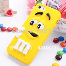 Wholesale Candy Case Iphone5s - For iphone 5 5s case MMS chocolate candy rubber silicone cartoon phone cases covers for iphone5s free shipping