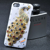 Wholesale I Phone Case Rhinestones - new arrival free shipping 1 piece Luxury 3D DIY For Apple case iPhone 5 5s 5c iphone5 i phone 4 4s bling diamond rhinestone