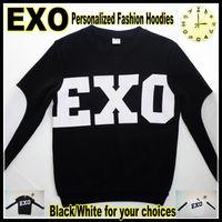 Wholesale Korean Sweatshirts For Women - New KPOP EXO LUHAN overdose same paragraph hoodie EXO Korean fashion casual personalized loose hoodies&sweatshirt for women men