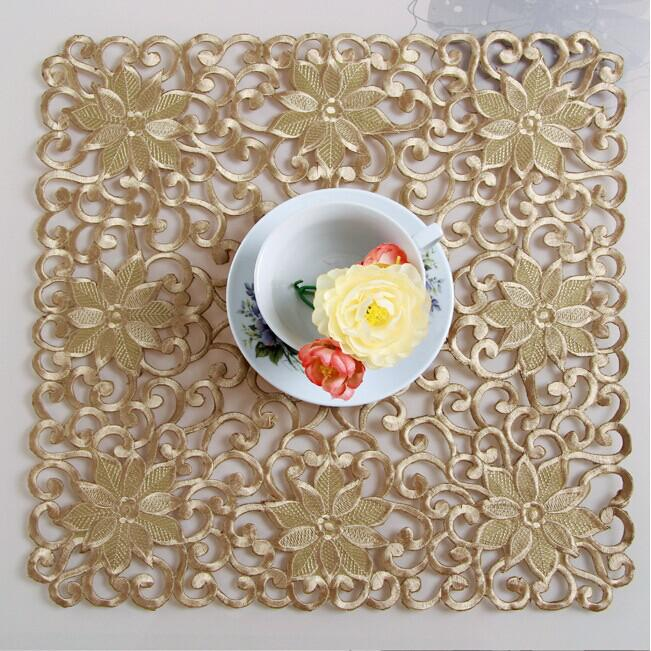 25*25cm Gold Mat Embroidery Napkin Small Table Cloth Square Placemat  Handmade Tablecloth Table Cove Towels No.222 Gs Cloth Placemats Blue  Napkins From Caity ...
