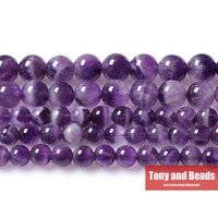 "Wholesale Natural Stone Beads 12mm - Free Shipping Natural Stone Purple Amethyst Round Loose Beads 16"" Strand 3 4 6 8 10 12MM Pick Size For Jewelry Making No.SAB11"
