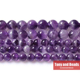 "Wholesale Amethyst Beads Strand - Free Shipping Natural Stone Purple Amethyst Round Loose Beads 16"" Strand 3 4 6 8 10 12MM Pick Size For Jewelry Making No.SAB11"