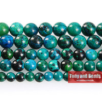 """Wholesale loose strands - Free Shipping Natural Stone Chrysocolla Round Loose Beads 16"""" Strand 4 6 8 10 12 14MM Pick Size For Jewelry Making No.SAB14"""