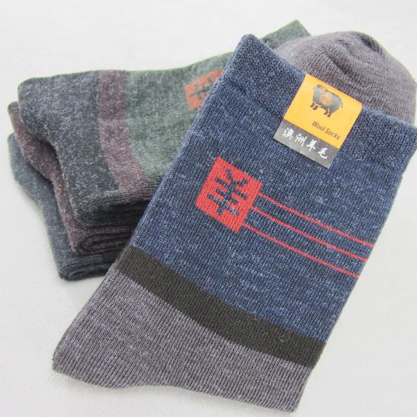 5 pares / lote, absorvendo o suor melhor esportes meias smartwool respirável caminhadas meias, meias de inverno quente de algodão grosso de lã de algodão quente