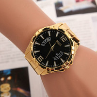 Wholesale Glass Alarm - Big Watches For Men New Gold Ladies Women Fashion Mens Watched Top Brand Designer Woman Watches With Logo Reloj Femenino