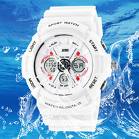 Wholesale Men S Watches Alarm - New SHOCK Skmei electronic G dual display Men Fashion s wiss army military Watches+Male boys Digital waterproof Sports Watch